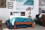 Sedona Twin Platform Bed With Trundle With Mattress - Room
