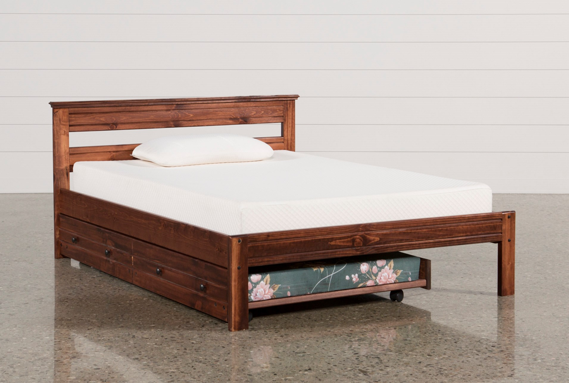 platform bed with trundle sedona platform bed with trundle with mattress 16773