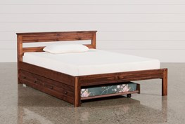 Sedona Full Platform Bed With Trundle With Mattress