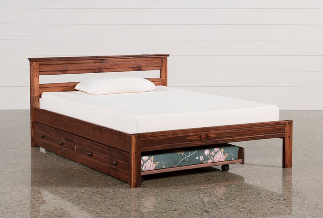 sedona full platform bed with trundle with mattress 12921 | 83650 4 w 650 h 440 mode pad