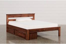 Sedona Full Platform Bed With Single 2- Drawer Storage Unit