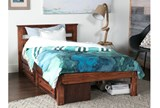 Sedona Full Platform Bed With Single 2- Drawer Storage Unit - Room
