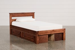 Sedona Twin Platform Bed With Double 2- Drawer Storage Unit