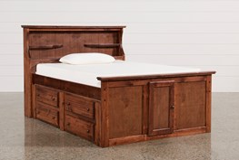 Sedona Full Bookcase Bed With Double 4- Drawer Captains Unit