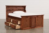Sedona Full Bookcase Bed With Double 4- Drawer Captains Unit - Left