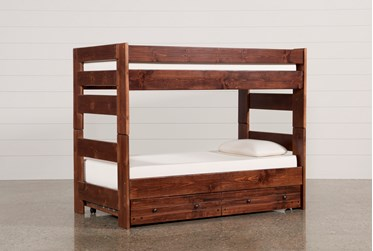 Sedona Twin Over Twin Bunk Bed With Trundle With Mattress