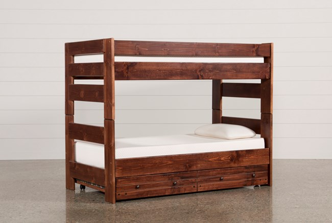 Sedona Twin Over Twin Bunk Bed With Trundle With Mattress - 360