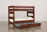 Sedona Twin Over Twin Bunk Bed With Trundle With Mattress - Left