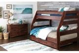Sedona Twin Over Full Bunk Bed With Trundle With Mattress - Room