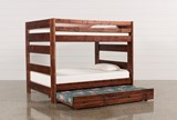 Sedona Full Over Full Bunk Bed With Trundle With Mattress - Left