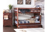 Sedona Full Over Full Bunk Bed With Trundle With Mattress - Room