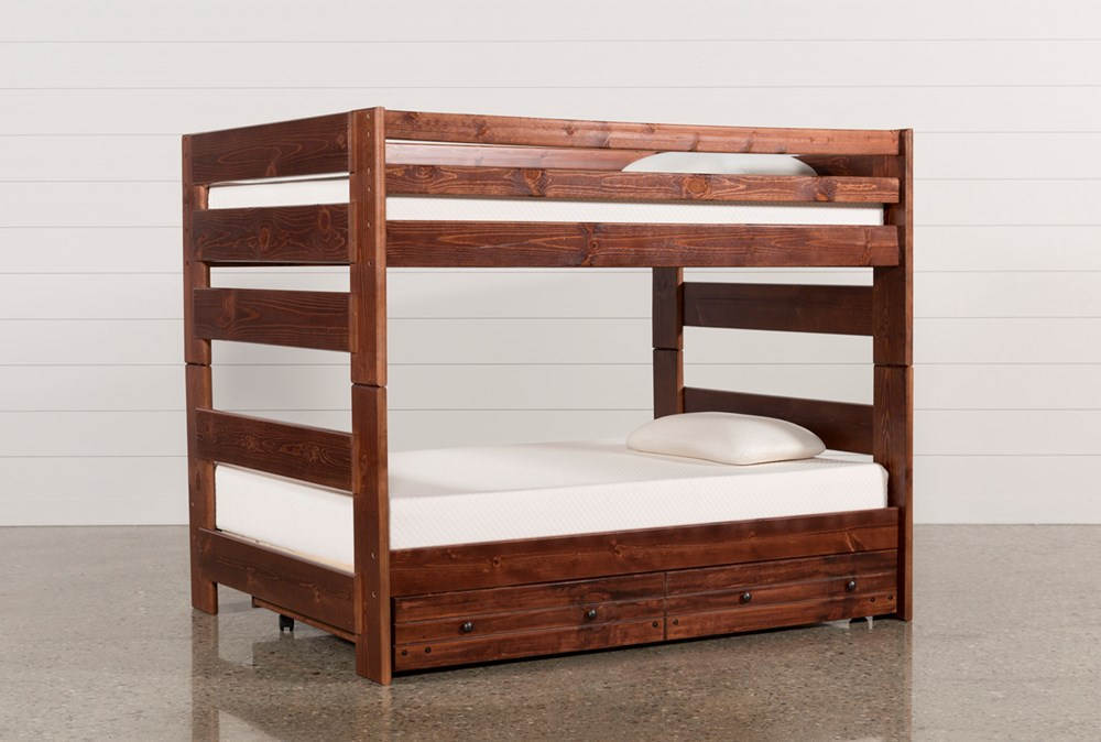 Sedona Full Over Full Bunk Bed With Trundle With Mattress