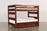 Sedona Full Over Full Bunk Bed With Trundle With Mattress - Signature