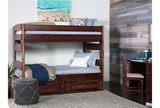 Sedona Twin Over Twin Bunk Bed With 2- Drawer Storage Unit - Room