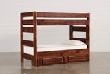 Sedona Twin Over Twin Bunk Bed With 2- Drawer Storage Unit - Signature