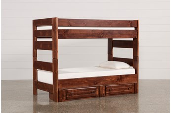 Sedona Twin Over Twin Bunk Bed With 2 Drawer Storage Unit