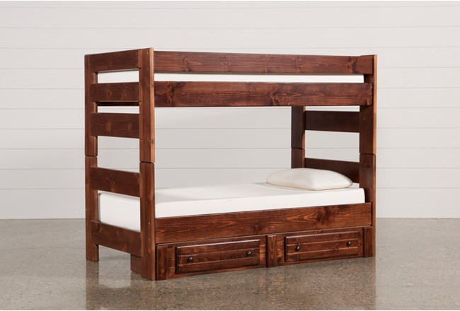 Sedona Twin Over Twin Bunk Bed With 2 Drawer Storage Unit - 360