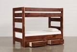 Sedona Twin Over Twin Bunk Bed With 2- Drawer Storage Unit - Left
