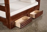 Sedona Twin Over Twin Bunk Bed With 2- Drawer Storage Unit - Top