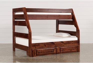 Sedona Twin Over Full Bunk Bed With 2 Drawer Storage Unit
