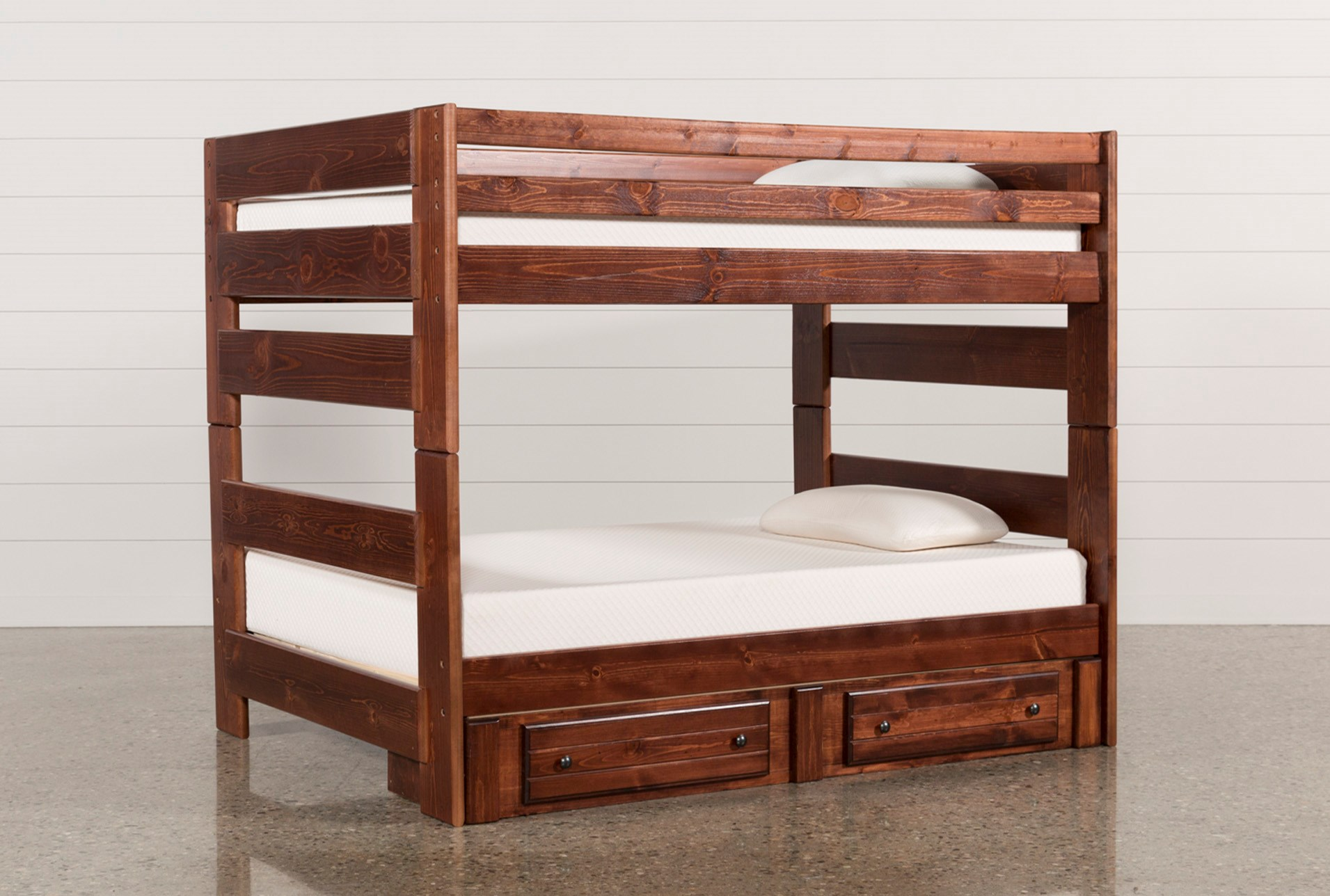 Sedona Full Over Full Bunk Bed With 2 Drawer Storage Unit Living