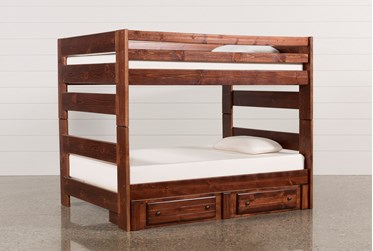 Sedona Full Over Full Bunk Bed With 2 Drawer Storage Unit