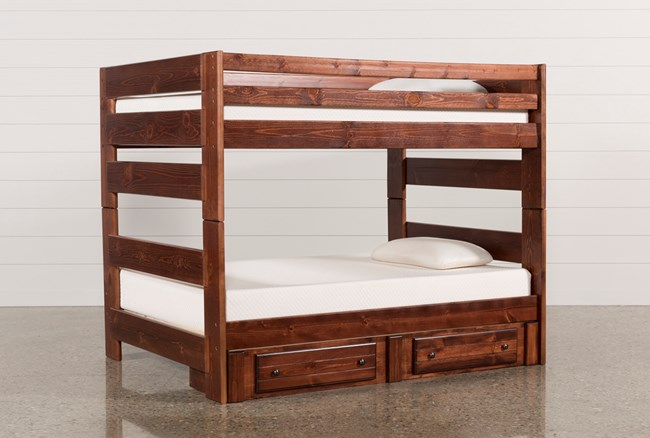 Sedona Full Over Full Bunk Bed With 2- Drawer Storage Unit - 360