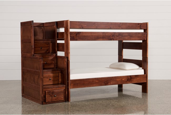Sedona Twin Over Twin Bunk Bed With Stair Chest Living Spaces