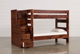 Sedona Twin Over Twin Bunk Bed With Stair Chest - Left