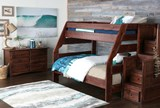 Sedona Twin Over Full Bunk Bed With Stair Chest - Room