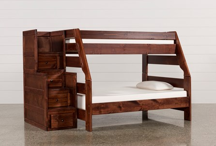 Sedona Twin Over Full Bunk Bed With Stair Chest