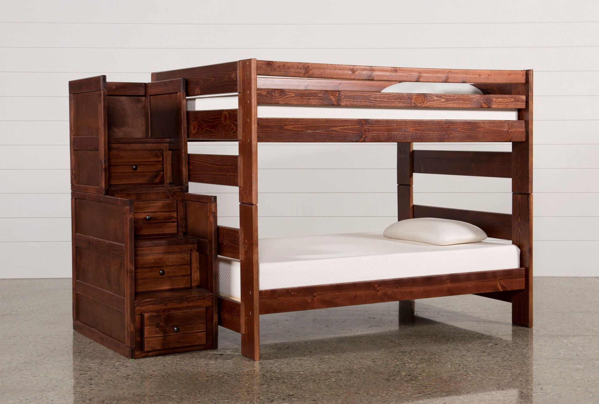 Sedona Full Over Full Bunk Bed With Stairway Chest Living Spaces
