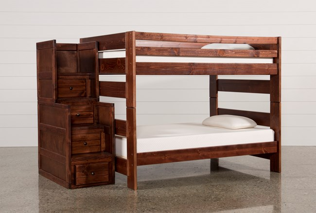 Sedona Full Over Full Bunk Bed With Stairway Chest - 360