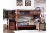 Sedona Full Over Full Bunk Bed With Stair Chest - Room