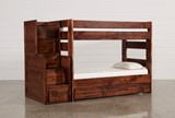 Sedona Twin Over Twin Bunk Bed With Trundle/Mattress & Stair Chest - Signature