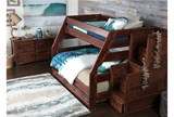 Sedona Twin Over Full Bunk Bed With Trundle/Mattress & Stair Chest - Room