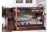 Sedona Full Over Full Bunk Bed With Trundle/Mattress & Stair Chest - Room