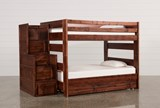 Sedona Full Over Full Bunk Bed With Trundle/Mattress & Stair Chest - Signature