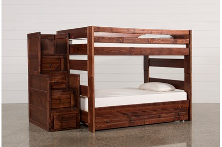 Sedona Full Over Full Bunk Bed With Trundle/Mattress & Stair Chest - Main