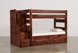 Sedona Twin Over Twin Bunk Bed With 2 Drawer Strg Unit & Stair Chest - Signature