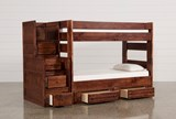 Sedona Twin Over Twin Bunk Bed With 2 Drawer Strg Unit & Stair Chest - Left