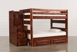 Sedona Full Over Full Bunk With 2 Drawer Storage Unit & Stairway Chest
