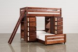 Sedona Twin Over Twin Loft Bunk With 2 Chests - Left