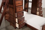 Sedona Twin Over Twin Loft Bunk With 2 Chests - Top