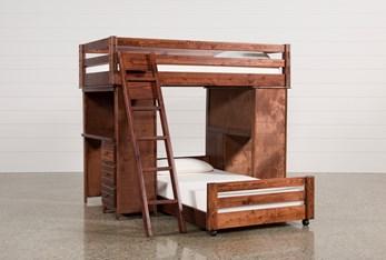Sedona Twin Over Twin Loft Bunk With 2 Desks