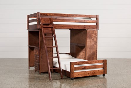 Sedona Twin Over Twin Loft Bunk With 2 Desks