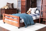 Sedona Twin Caster Bed - Room