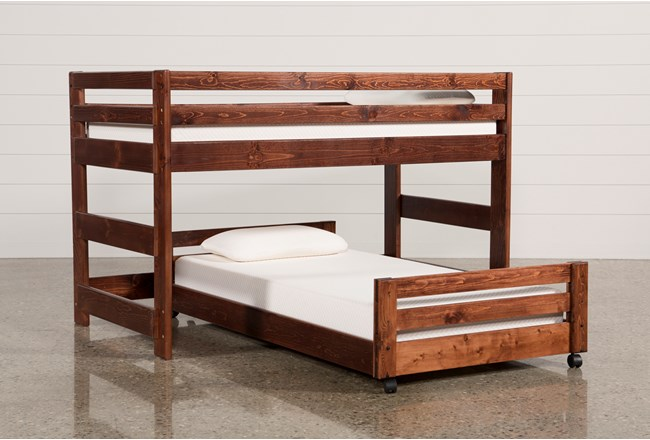 Sedona Junior Loft Bed With Twin Caster Bed - 360