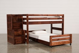 Sedona Junior Loft Bed With Twin Caster Bed & Junior Stair Chest
