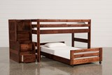 Sedona Junior Loft Bed With Twin Caster Bed & Junior Stair Chest - Left